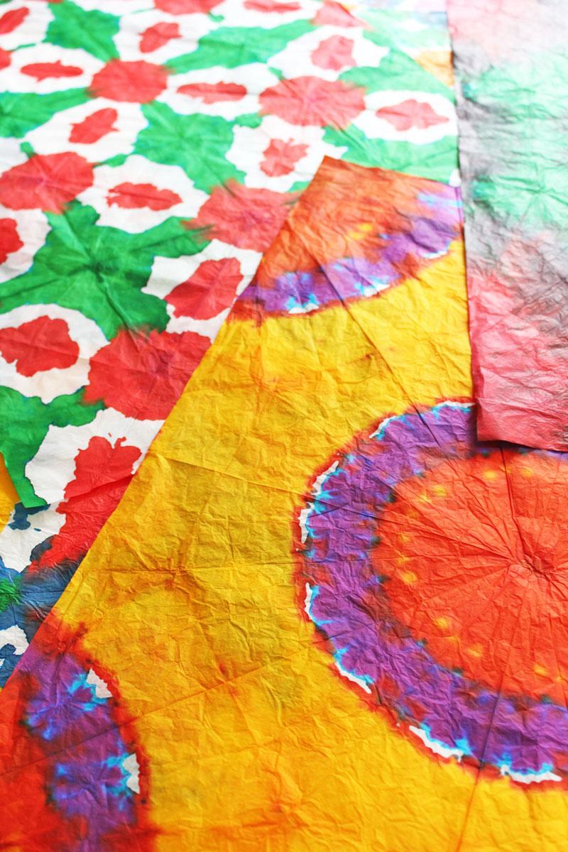 diy gift wrapping ideas  tie dye gift wrap