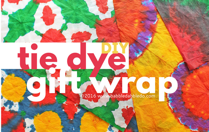DIY Gift Wrapping Ideas: Tie Dye Gift Wrap