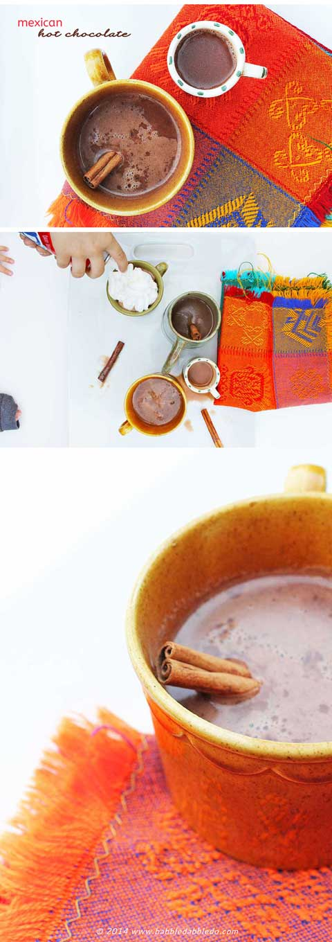 Cooking with Kids: Make Mexican Hot Chocolate to warm up on a cold day.