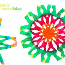 STEAM Project Idea: Psychedelic Snowflake Craft