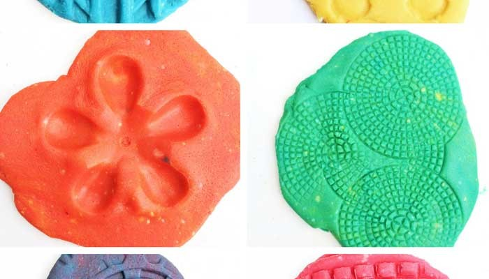 Play Dough Activities: Trashy Textures