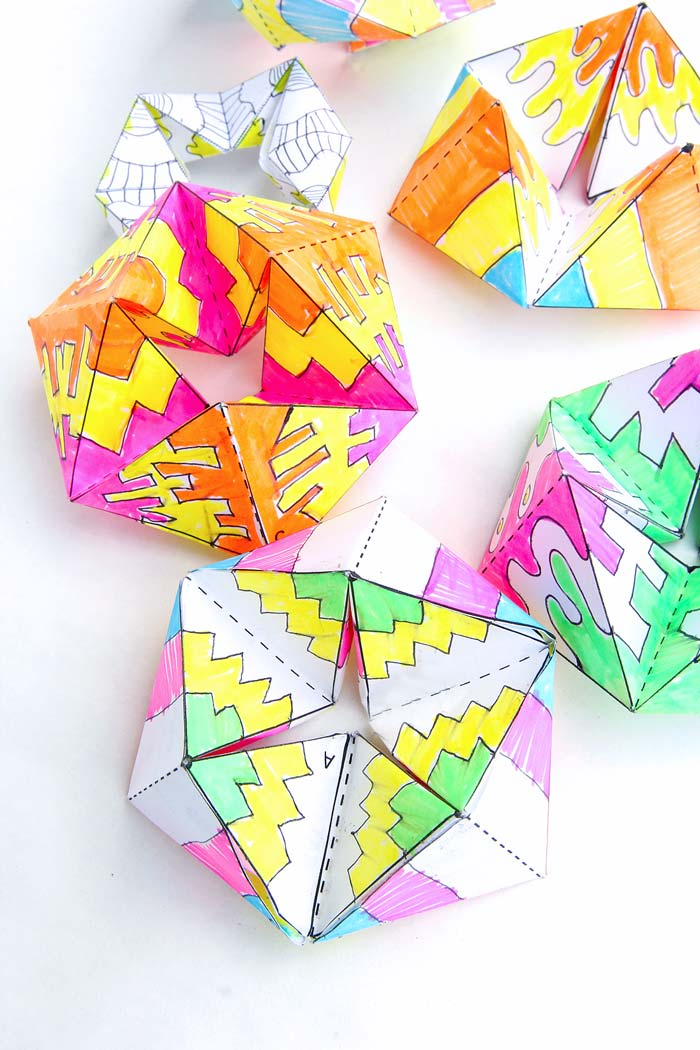 paper toy flextangles babble dabble do