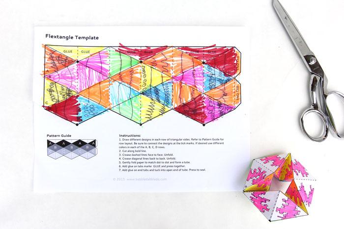 Paper Toy Flextangles Babble Dabble Do – Paper Design Template