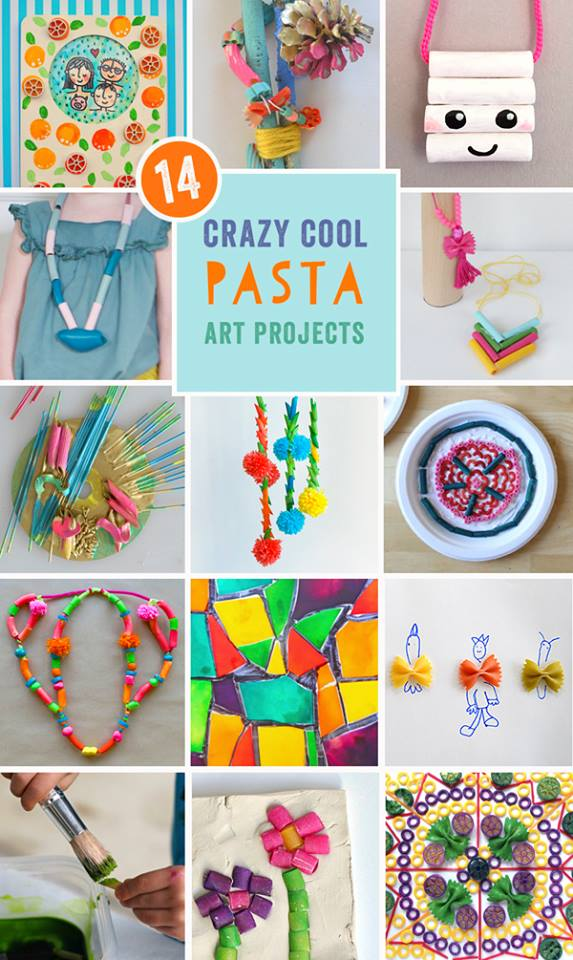 14 Crazy Cool Pasta Crafts for kids