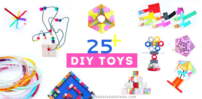 25 DIY Toys you can make at home!