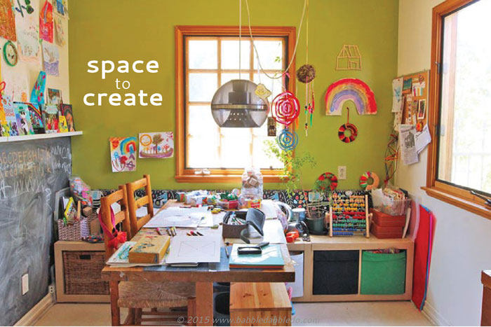 Space to create a home art studio for kids babble dabble do Home art studio interior design ideas