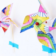 Kids Paper Crafts: Op-Art Pinwheels