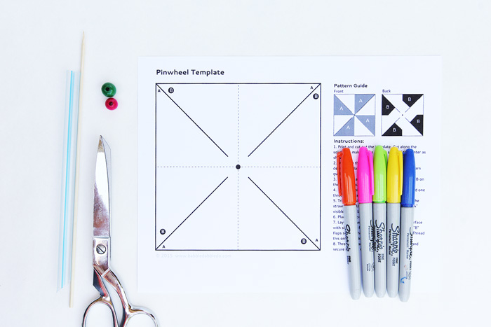 Kids Paper Crafts: Op-Art Pinwheels - Babble Dabble Do
