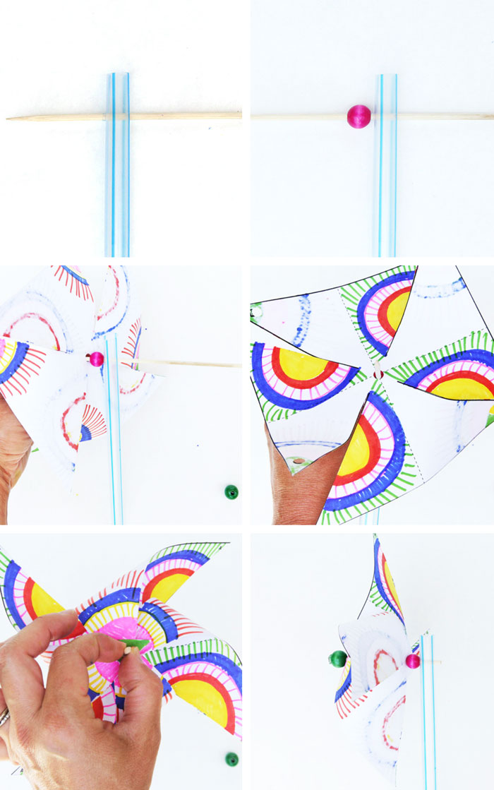 Easy kids paper crafts: Decorate and make your own op-art pinwheels ...