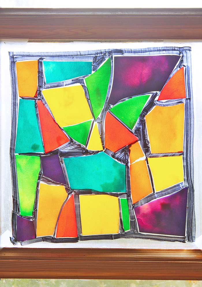 Pasta Crafts: Stained Glass Pasta - Babble Dabble Do