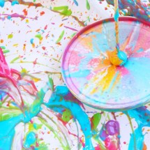 Easy Art Activity: Yogurt Spin Art Tops