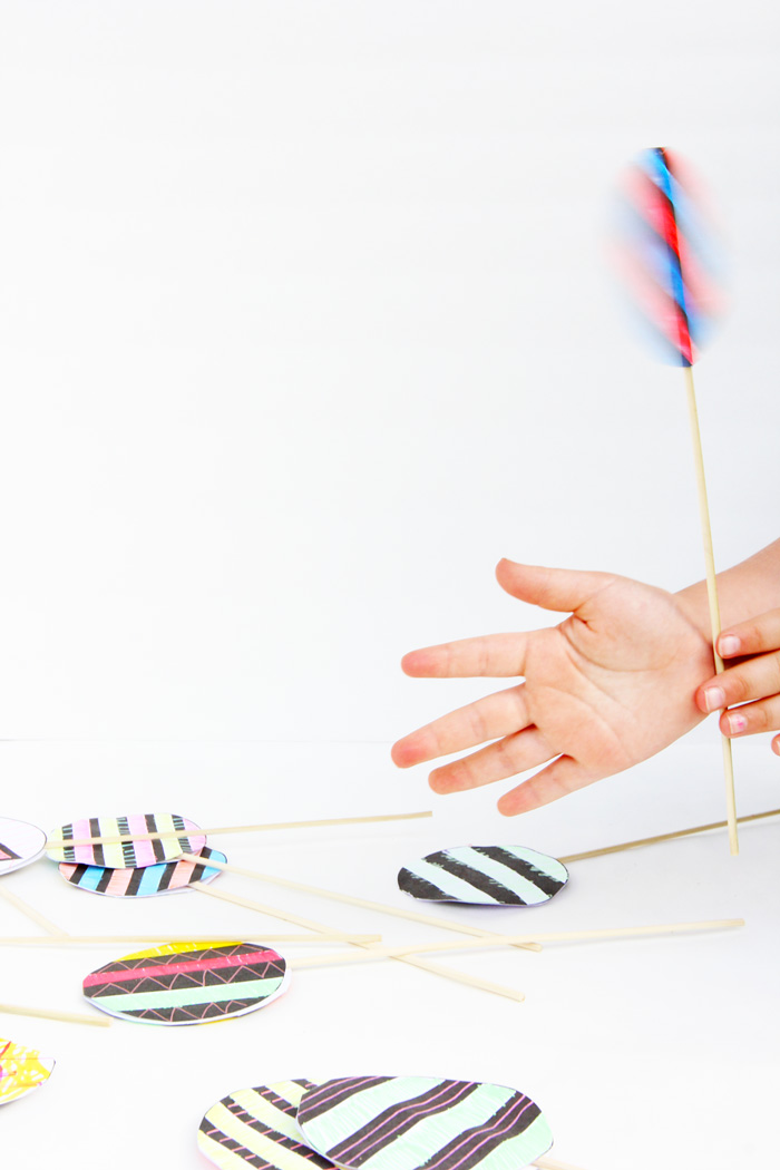 Make a simple optical illusion toy and trick your eye! Fun paper craft for kids.