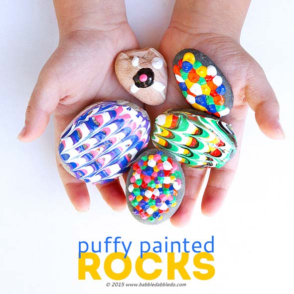 42 Very Easy Things To Paint On Canvas: Easy Art For Kids: Puffy Painted Rocks
