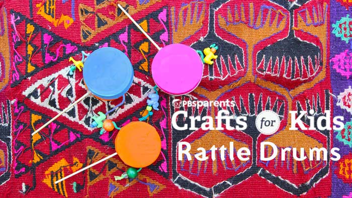 Learn how to make simple homemade instruments: Rattle Drums