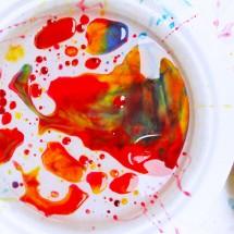 Process Art for Kids: Ooey Gooey Oily Art