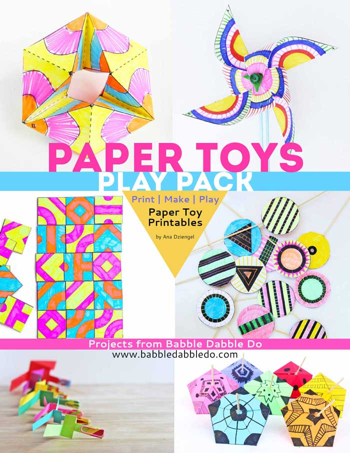 Paper toys play pack babble dabble do for Craft toys for kids