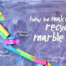 Recycled DIY Marble Run