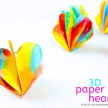 Valentine's Day Craft: 3D Paper Hearts