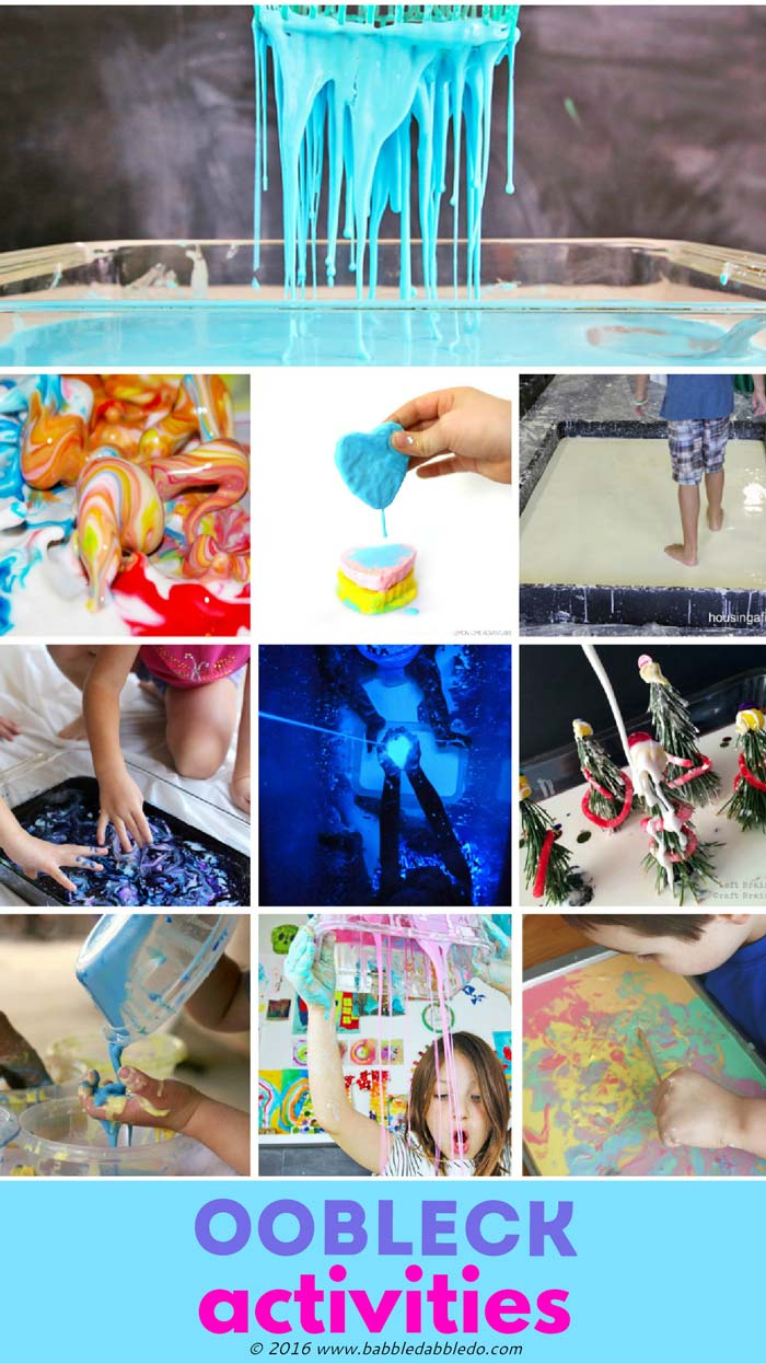 Fun activities to try using Oobleck.