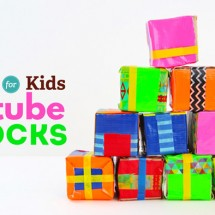 Recycled Craft: Tube Blocks