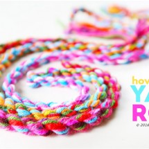 Yarn Craft Idea: How to Make Yarn Rope