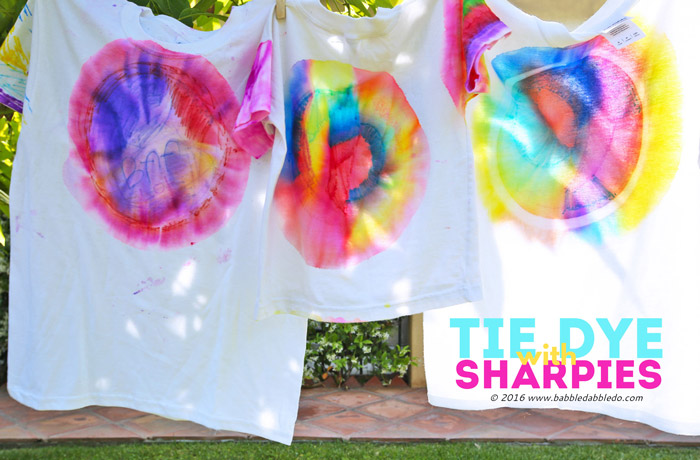 How to Do Sharpie Tie Dye - Babble Dabble Do