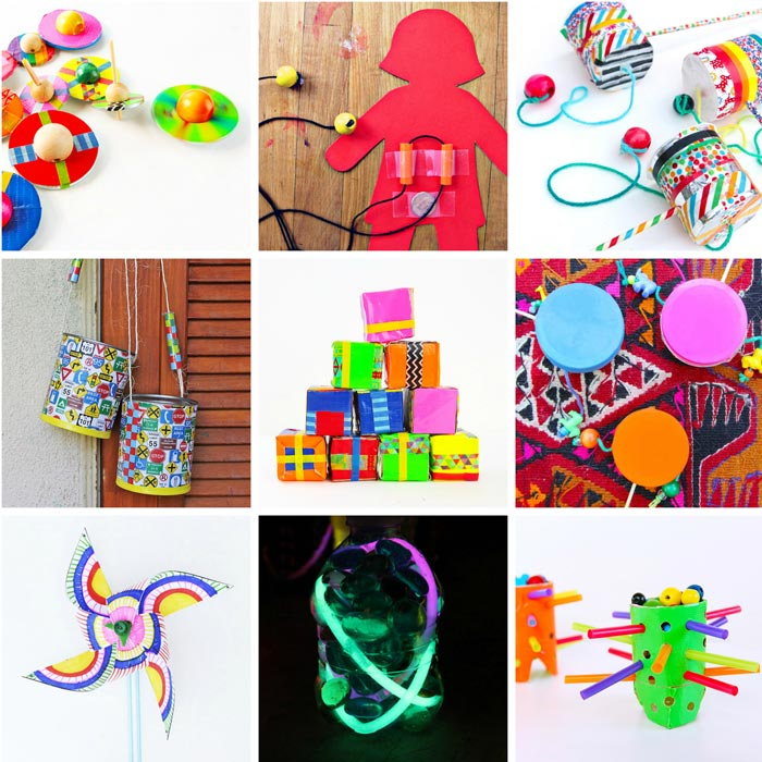 DIY TOYS: 80 Easy Creative Projects for Kids including activities, art, crafts, science, engineering and toys! Projects perfect for kids ages 3-8.