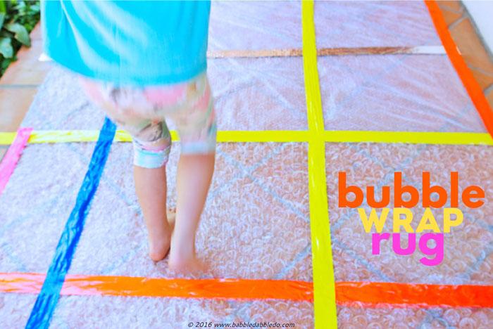Simple Craft Idea Bubble Wrap Rug Babble Dabble Do