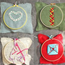 Sewing Ideas for Kids: Burlap Embroidery