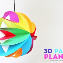 Easy Planet Craft: 3D Paper Planets