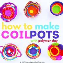 How to Make Coil Pots with Polymer Clay