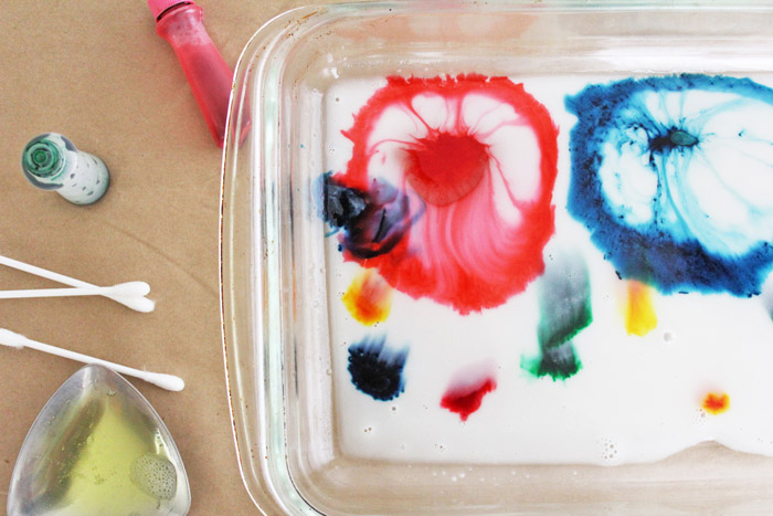 Science for Kids: Magic Milk Painting - Babble Dabble Do
