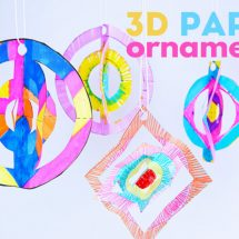 Easy Christmas Craft: 3D Paper Ornaments