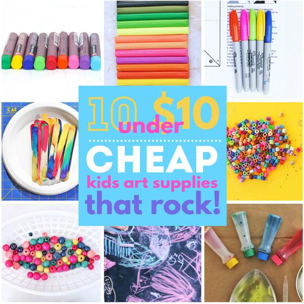 10 under $10: Cheap Art Supplies for Kids