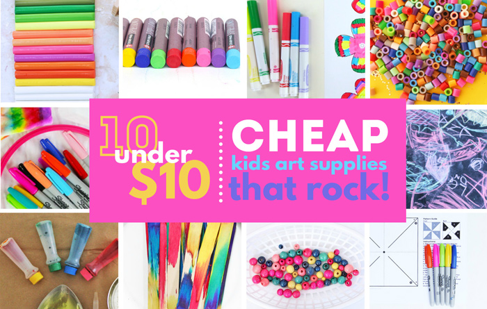 10 under $10: Cheap Art Supplies for Kids. Creative projects supplies every family should own.