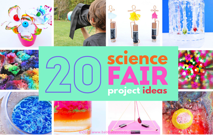 20 Science Fair Project Ideas for Kids- based on grade level.