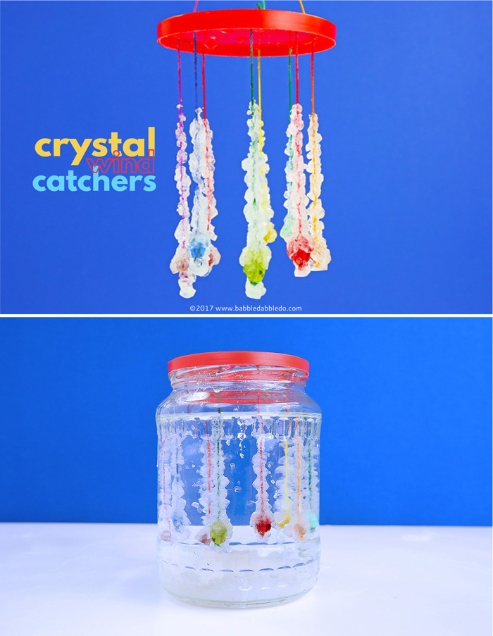 NO-FAIL CRYSTALS: Try the classic Borax crystal growing experiment and then turn it into lovely Crystal Wind Catchers.