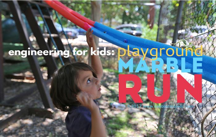 Playground Sized DIY Marble Run